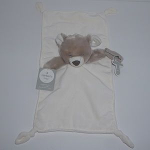 Carter's Bear Knotted Security Blanket Lovey NEW